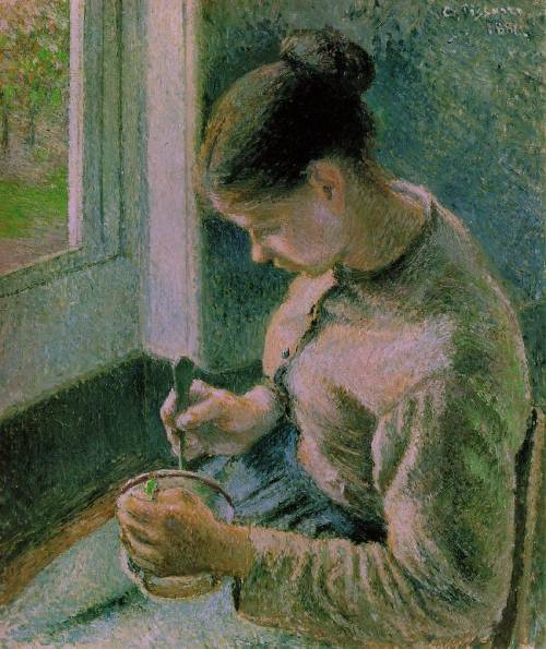 Camille Pissarro  Peasant Girl Drinking Her Coffee