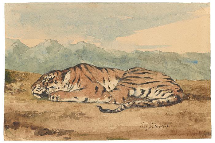 centuriespast:  Eugène Delacroix (1798–1863)Royal Tiger Morgan Museum