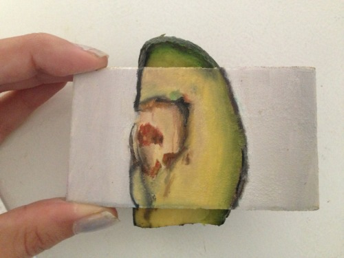 Hidden Painting: Partially-eaten Pinkerton avocado