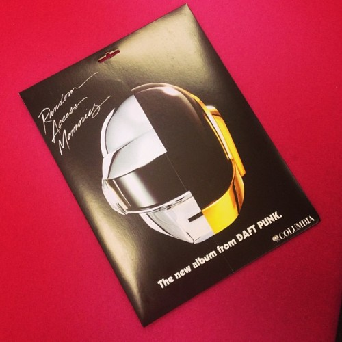The new #daftpunk album #randomaccessmemories is out May 21 at HMV. We have something fun for ppl who preorder the LP. Deets coming Monday! (at HMV)