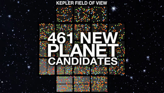 mothernaturenetwork:    NASA finds 461 alien planet candidates, some possibly habitable     The new finds represent the latest update to the catalog of the $600 million Kepler mission, which launched in March 2009.