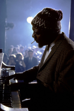 mpdrolet:  Thelonious Monk performing at the Newport Jazz Festival, New York City, 1975 Burt Glinn