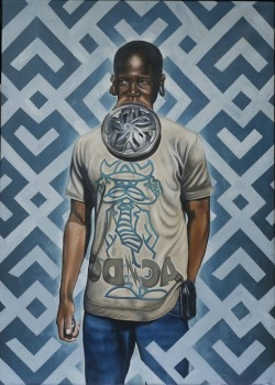 "26-year-old art student Kajahl Benes is an Italian-American, Afro-Caribbean American, Cali-born artist and paints characters in a strange hybrid of traditional West African and American fashion.  ""My paintings explore the racial, social, and psychological subtleties of both African and African American cultures. While this orientation provides a creative process for a journey of self-discovery, it also imbues my work with, what I believe to be, a special quality."" - Kajahl Benes What do you think?"