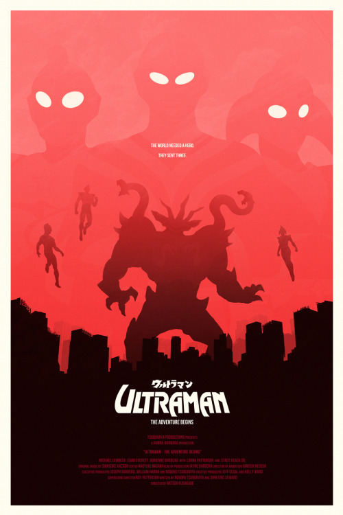 spankzilla85:  destruction-mode:  I just completed this poster for Ultraman: The Adventure Begins - the lesser known animated Hanna-Barbara / Tsuburaya joint production in the Ultraman series.   NICE.