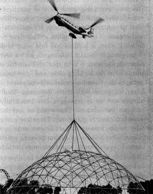 Buckminster Fuller, Air Deliverable Theater, 140-Foot Diameter, Ford Motor Company Detroit, Michigan