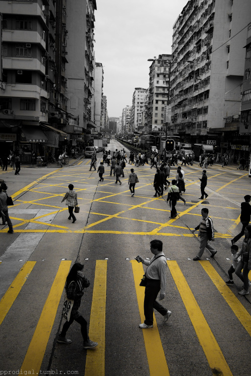 Crossing. Lai Chi Kok, Hong Kong