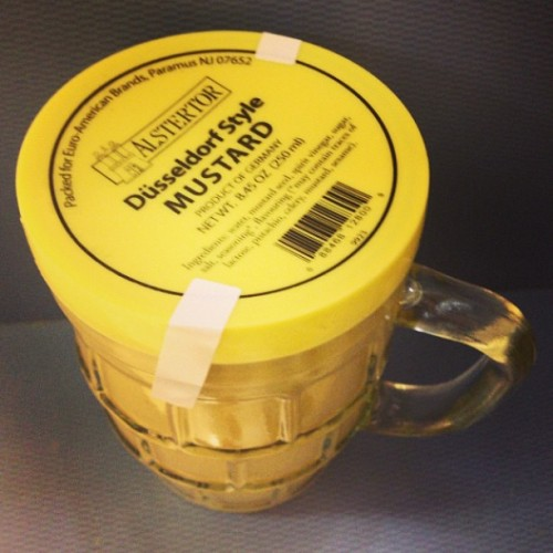 What's the point of mustard in a mug? How do they think I'll eat it?