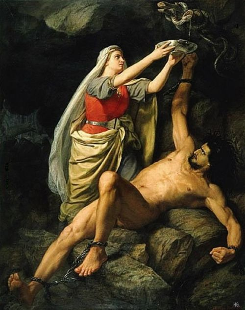 monsieurlabette:  Loki. 1890.  Marten Eskil Winge. Swedish. 1825-1896. oil on canvas.