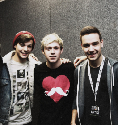Niall, Liam and Louis backstage at the Brits today. (20/02/13)