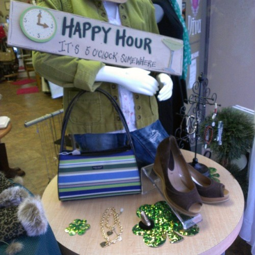 Luck of the Irish front window display #cleverdiva