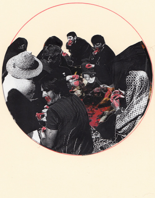 withapencilinhand:  old collage of 'The Feast'