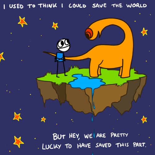 explodingdog:  I used to think I could save the world. More Explodingdog at The Daily Dot (via http://www.dailydot.com/comics/exploding-dog/)
