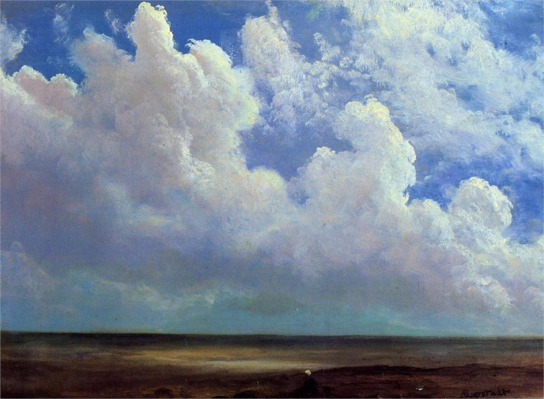Albert Bierstadt Beach Scene, 1873 Seattle Art Museum