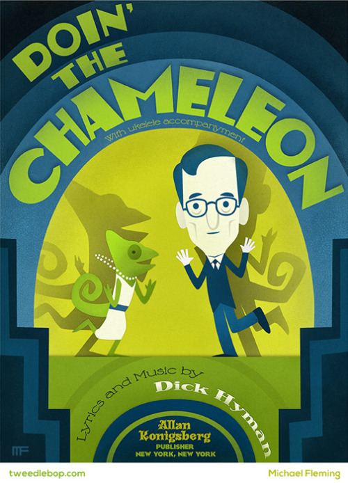 "Doin' the ChameleonMy very limited (only 5!) print for Gallery 1988's upcoming ""The Humorist - a tribute to one of the big screen's funniest directors"" show. I think you can guess who it is (but can you guess the film?)."