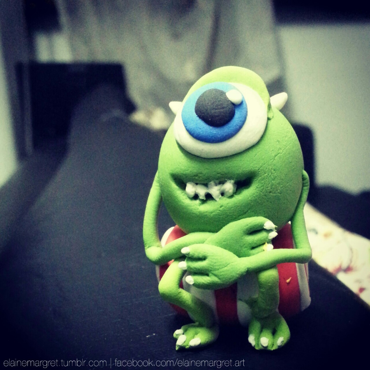 And here's Mike Wazowski from Monsters Inc.! …with messed up teeth. ¯\_(ツ)_/¯ I tried!