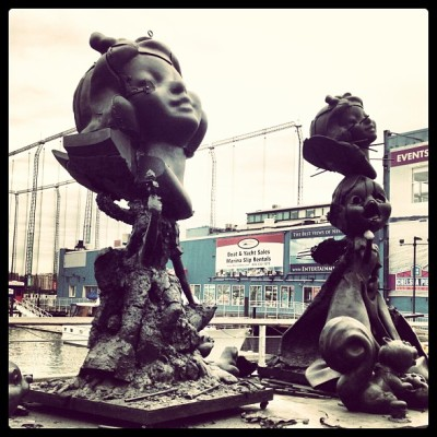 Sisters by Paul McCarthy #BronzeSculpture #NewYorkCity #PaulMcCarthy (at West Side Highway)