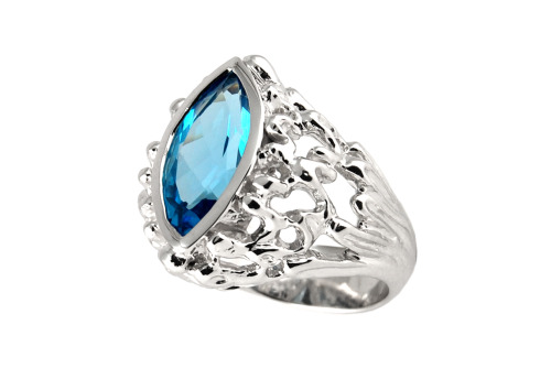 Frosen Water ring. Ring for Olga. 14K white gold, blue topaz one of a kind. To order a custom ring - https://www.etsy.com/shop/FineJewelryAS