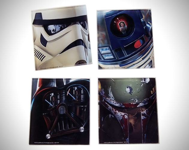 Super Chic Star Wars Coasters Show those water rings who's boss with this sophisticated 4-piece coaster set. Pre-order from Entertainment Earth for just $9. Follow Albotas on Twitter | Like Albotas on Facebook