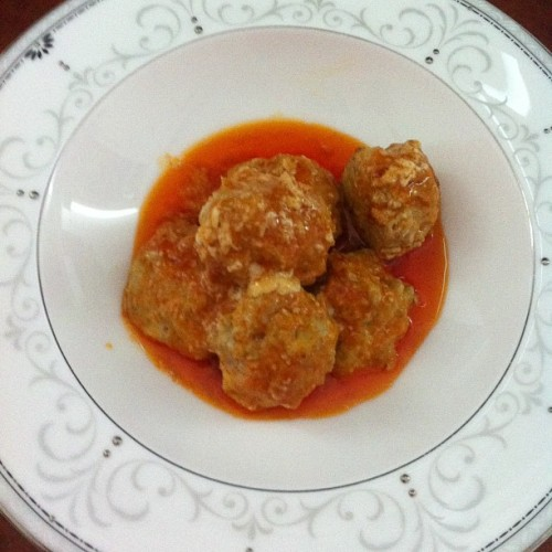 Chicken Meatballs with Hot Buttery Sauce #keto