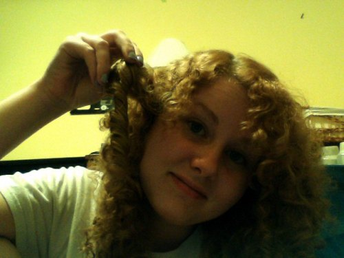 sometimes when i let my hair air-dry after i shower i get crazy ringlets like this