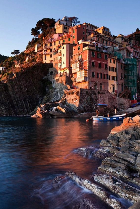 | ♕ | Riomaggiore at afterglow - Cinque Terre  | by © Matt Hofman