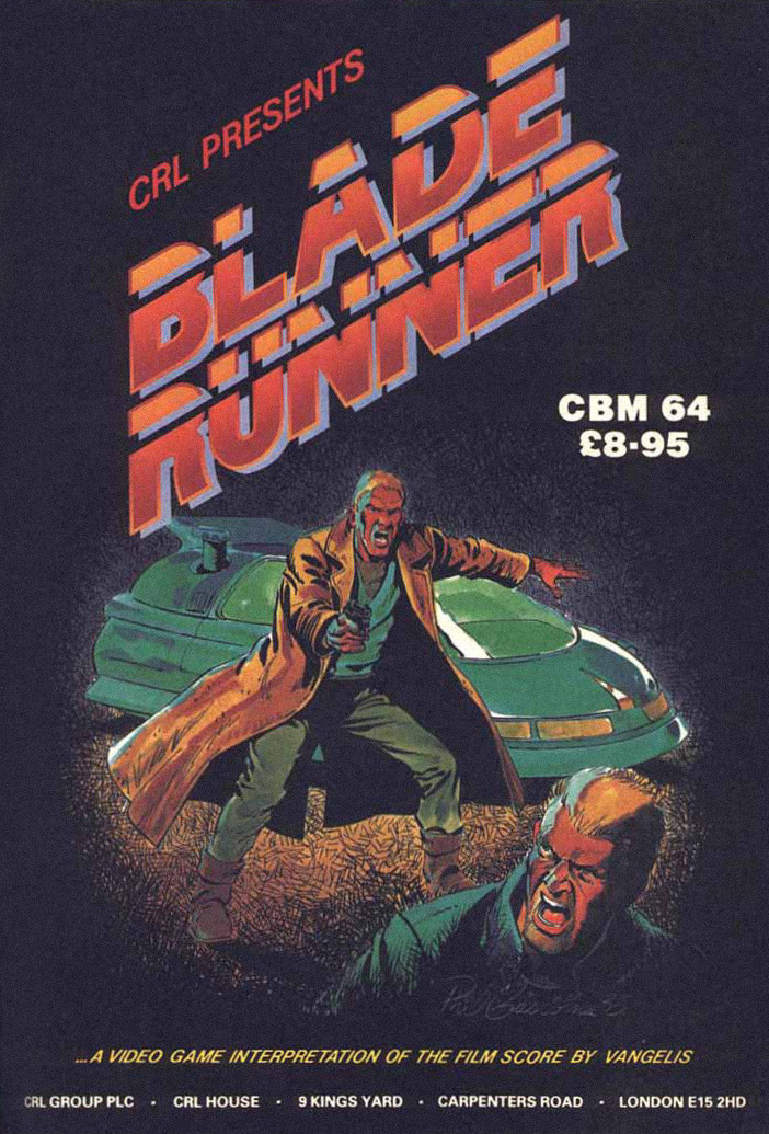 1187hunterwasser:  Blade Runner video game, Commodore 64 - 1985