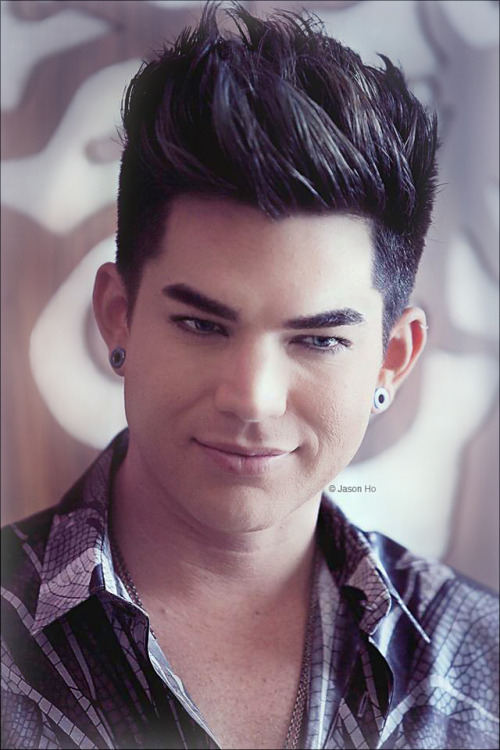 Slightly enhanced/edited photo by Jason Ho of Adam Lambert. I couldn't resist…. so handsome! :)