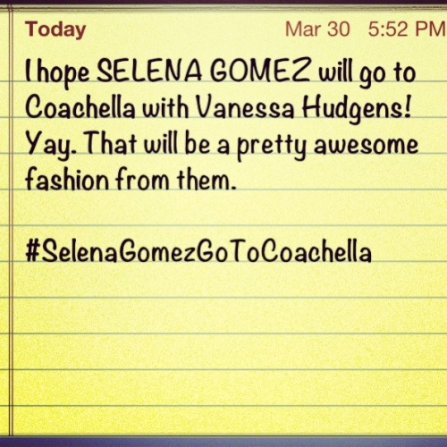 This will be awesome if Selena goes to Coachella! Twitter trend pls!!