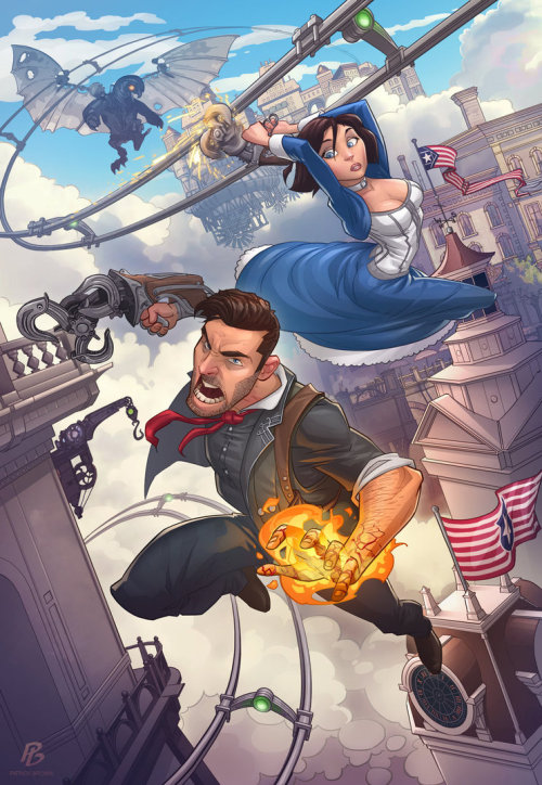 velvetcyberpunk:  Bioshock Infinite by *PatrickBrown