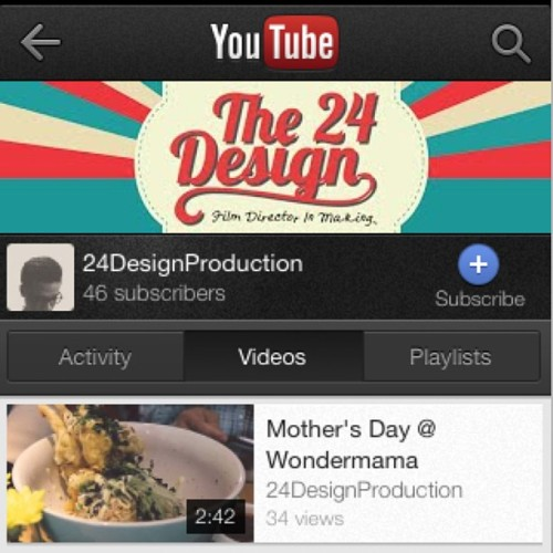 "Don't forget to watch my new video (Mother's Day) on YouTube! Just search ""24DesignProduction"" or you can watch it on my Vimeo 😊"