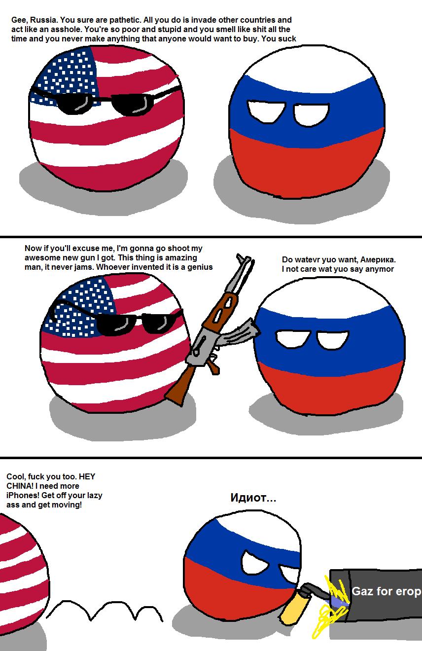 Russia sucks Source: reddit | Polandball