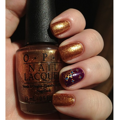 OPI - Goldeneye and Elevation Polish - Pic du Gar