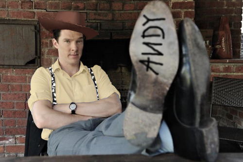 cumberbuddy:   snarkydetective:   cartoonmotioned:   howdy howdy how   omg   w h a t