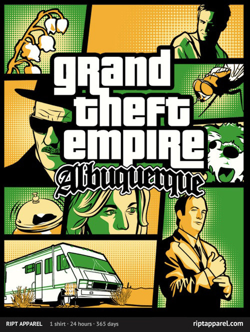 gamefreaksnz:  Grand Theft Empire by Sam Hume US$10 for 24 hours only Artist: Redbubble | Twitter | Tumblr