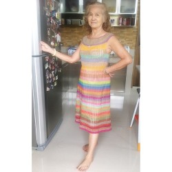 My posey grandma knitted this #dress She is such a true #beauty!