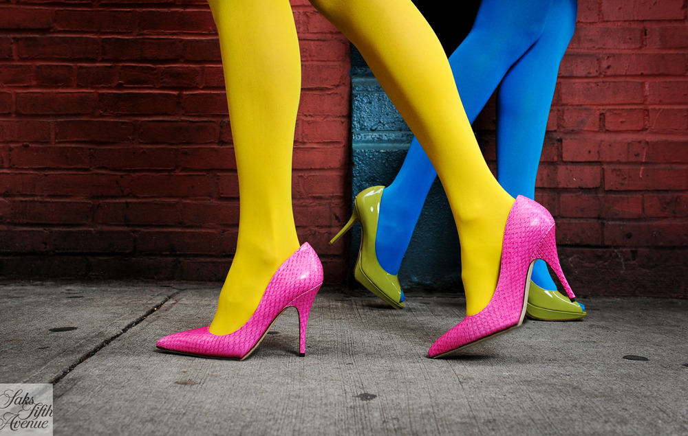 Now showing in Technicolor! Pumps by Kate Spade and Dior.Photo by Kristen Somody Whalen.