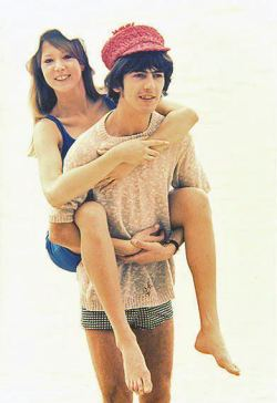 guru-vanda-na:   George and Pattie | via Tumblr on We Heart It - http://weheartit.com/entry/60701104/via/shesthemoon Hearted from: http://acrosstheuniverse-tb.tumblr.com/post/44633728731   Barbados February 1966 - Pattie and George posing in the surf on Sandy Lane Beach, Barbados during their honeymoon. Source of this scan is the Something About Pattie Boyd group at Yahoo! - not weheartit.com or tumblr blogs as falsely claimed.