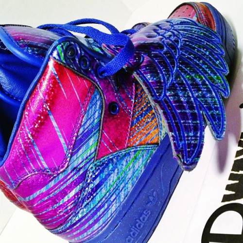"dwayneswor1d:  Jeremy Scott x adidas Wings ""Rainbow Hologram"" #jeremyscott #wings #jeremyscottwings #adidas #rainbow #hologram #shoeporn #sneakermates #justforkicks #kicksonfire #igsneakerfriends #igsneakercommunity #nicekicks #sneakerfreaker #sneakerpolitics #vintageheat #solecollectors #soletoday #complexkicks #peepmysneaks #kicks4eva #solecollector #flykicks #hypebeast #dwaynesworld #yabish"