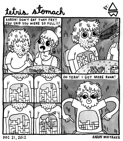 thefrogman:  Tetris Stomach by Aaron Whitaker [website | tumblr | twitter]
