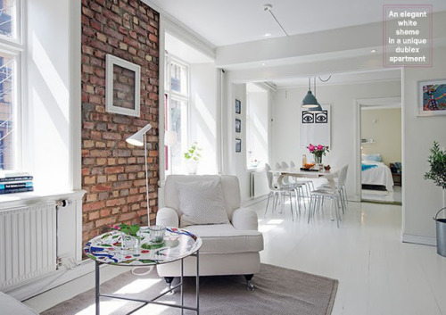 myidealhome:   exposed bricks (via Unidentified Lifestyle by Maria Matiopoulou)