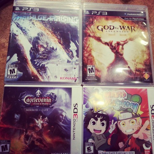 Today's work.  #GodofWar #MGR #Revengeance #Naurto #Castlevania  (at SMC - Gotgame)