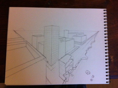 continuation of perspective drawing.