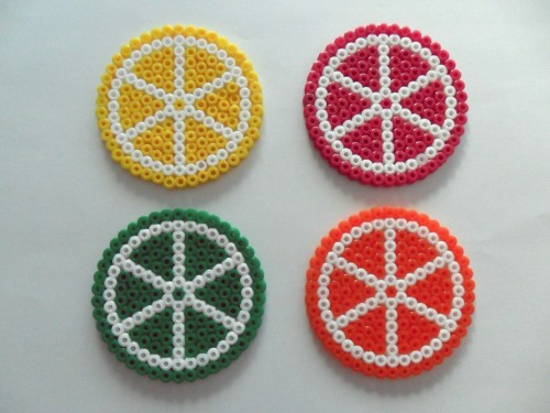 Citrus Coasters - Hama Beads