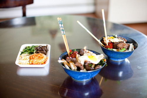 Moose Bulgogi & Garden Bibimbap by lauritadianita on Flickr.