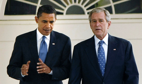 "5 ways Obama is just like George W. BushJanuary 15, 2013 On President Barack Obama's second full day in the Oval Office in 2009, he signed important executive orders that signaled a clear break with the excesses of George W. Bush's ""war on terror."" Obama decreed that the Guantanamo Bay prison camp would be closed in a year and that the United States would no longer perpetrate torture. No longer would men, some of them innocent, languish without charges in what has been described as an American gulag by Amnesty International. No longer would men be subjected to brutal interrogation tactics that clearly amounted to torture, like water boarding. The orders would ""restore the standards of due process and the core constitutional values that have made this country great even in the midst of war, even in dealing with terrorism,"" said Obama. Fast-forward to today. Guantanamo remains open, warrantless wiretapping continues, and drone strikes have accelerated, leading to the deaths of innocent civilians and a burst in support for anti-American forces in Yemen, Pakistan and Somalia. Instead of breaking with the Bush era, Obama has codified and permanently institutionalized the ""war on terror"" framework that has characterized American foreign policy since the September 11, 2001 attacks. And they have done all of this largely in secret, refusing to open up about how drone strikes are decided on. So while torture has been thrown out of the American playbook, other black marks remain. Obama has done everything but restore ""core constitutional values"" to how the U.S. conducts itself around the world. Perhaps the most potent symbol of Obama's willingness to institutionalize Bush-era frameworks for dealing with terrorism is his January 2013 appointment of John Brennan as new Central Intelligence Agency director. Brennan was a key supporter of many Bush-favored tactics used by the CIA, including torture and extraordinary rendition. When Obama first contemplated appointing Brennan in his first term to the post he's been appointed to now, the outcry was swift and Brennan pulled out from consideration. Now, the reaction has been meek—a symbol of how Bush-era military and intelligence tactics have become normalized to the extent that nobody bats an eye when a man with a sordid record at the CIA is appointed to head up the entire agency.  Obama has kept the U.S. on a permanent war footing with no end in sight through a variety of methods. Here are five ways the Obama administration has institutionalized the never-ending war on terror. 1. Drones The image of the gray, pilotless aircraft flying through the sky to eventually rain hellfire down will be indelibly tied to Obama. His administration has made drone strikes in countries like Yemen, Somalia and Pakistan the weapon of choice when it comes to dealing with suspected militants. You have to look at the numbers of drone strikes under the Bush and Obama administrations to truly appreciate how Obama has taken this Bush tool and increased its use exponentially. The first drone strike in U.S. history occurred in 2002, when a CIA-operated drone fired on three men in Afghanistan. The drone strikes have since migrated over to battlefields away from U.S.-declared wars. In Pakistan, the Bush administration carried out a total of 52 strikes, according to the Bureau of Investigative Journalism, which closely tracks drone strikes. That led to the deaths of an estimated 438 people, including 182 civilians and 112 children. But the Obama administration has ordered at least 300 drone strikes in Pakistan—and Obama's second term has yet to begun. Those strikes have killed about 2,152 people, including 290 civilians, of whom 64 were children. The drone strikes also have a devastating impact beyond the deaths reported. As a New York University/Stanford University study on drone strikes stated, the constant buzzing of drones in the sky ""terrorizes men, women, and children, giving rise to anxiety and psychological trauma among civilian communities. Those living under drones have to face the constant worry that a deadly strike may be fired at any moment, and the knowledge that they are powerless to protect themselves."" Instead of looking forward to how this permanent drone war might end, the Obama administration has decided to institutionalize the process. In October 2012, the Washington Post revealed that the administration had undertaken a two-year long strategy to institutionalize what has become known as the ""kill list,"" or the list of suspected terrorists the Obama administration unilaterally decides to kill by drone strikes. The administration calls it the ""disposition matrix,"" which refers to the different plans the administration has to ""dispose"" of suspected militants. The Post described the ""matrix"" as part of ""the highly classified practice of targeted killing, transforming ad-hoc elements into a counterterrorism infrastructure capable of sustaining a seemingly permanent war."" 2. Warrantless Wiretapping One of the enduring scandals of the George W. Bush years was that administration's practice of wiretapping American citizens with no warrant in order to spy on suspected terrorists. TheNew York Times, which broke the story in 2005, reported that ""months after the Sept. 11 attacks, President Bush secretly authorized the National Security Agency to eavesdrop on Americans and others inside the United States to search for evidence of terrorist activity without the court-approved warrants ordinarily required for domestic spying."" The move raised concerns that the Bush administration was crossing constitutional limits on wiretapping Americans. But the outcry from those concerned with civil liberties has largely been muted in the Obama era. In late December 2012, President Obama signed an extension of a law that allows the U.S. to ""eavesdrop on communications and review email without following an open and public warrant process,"" as NPR summed it up. The law was an extension of the 2008 law that legalized the Bush administration's wiretapping of American citizens. As national security blogger Marcy Wheeler notes in a recent piece for the Nation, the president's signature on the new bill on wiretapping means that the U.S. ""has nearly unrestrained authority to eavesdrop on those who communicate with people outside the country. The government doesn't even need to show that these foreign targets are terrorists or that the conversations center around a plot. This means any international communication may be subject to wiretapping."" 3. Proxy Detentions Under the Bush administration, the process of ""extraordinary rendition"" involved abducting people accused of terrorism and shipping them off to another country where they were interrogated and tortured. The Obama administration has continued to use foreign countries to detain and interrogate suspects, but the details of how they do it are changed from the Bush era. Still, the overall practice of using other security forces to do your dirty work remains in place. The Washington Postreported on January 1 that ""the Obama administration has embraced rendition — the practice of holding and interrogating terrorism suspects in other countries without due process — despite widespread condemnation of the tactic in the years after the Sept. 11, 2001, attacks."" While the Post used the term ""rendition,"" the more accurate term would be ""proxy detention,"" as Mother Jones pointed out. The most recent iterations of the practice of using other countries to detain suspects the U.S. wants to interrogate have been in countries like Dijibouti and Nigeria. The Post reported on one December 2011 case in which an man from Eritrea ""revealed that he had been questioned in a Ni­ger­ian jail by what a U.S. interrogator described as a 'dirty' team of American agents who ignored the suspect's right to remain silent or have a lawyer, according to court proceedings."" Other cases have been publicized by Mother Jones. The magazine reported on the case of Yonas Fikre, a Muslim-American from Oregon who was detained in the United Arab Emirates. There, Fikre and his lawyers claim, he was beaten and held in stress positions. He claims there was cooperation between the FBI and UAE security forces. So the FBI was using the UAE forces to detain people the U.S. wanted to interrogate. 4. Guantanamo Although the continued operation of the Guantanamo Bay camp is hardly the sole fault of President Obama, it does symbolize the abject failure to reject the Bush administration's approach to terrorism. While it's important to note that the Republican Party has blocked Obama's desire to close Guantanamo, he has not expended political capital on closing the prison and has signed bills that restrict his ability to do so. The most recent bill concerning Guantanamo Bay crossed his desk at the beginning of the year. Despite threatening to veto the bill because it restricted the executive branch's authority, Obama signed it, and curtailed his own ability to move ahead on closing the infamous camp, where people have languished without charge for years on end. The National Defense Authorization Act of 2013, where the Guantanamo provisions are included, restricts ""the transfer of detainees into the United States for any purpose, including trials in federal court. It also requires the defense secretary to meet rigorous conditions before any detainee can be returned to his own country or resettled in a third country,"" according to theWashington Post. Human rights activists blasted the move. ""Indefinite detention without trial at Guantanamo is illegal, unsustainable and against U.S. national security interests, and it needs to end,"" Human Rights Watch's Andrea Prasow told the Post. ""The administration should not continue to just blame Congress. President Obama should follow through on his earlier commitments and make the effort to overcome the transfer restrictions."" 5. Indefinite Detention This issue, over all the others, says loud and clear that the Obama administration is preparing for an endless war on terror. Domestically, indefinite detention reared its ugly head back in December 2011, when President Obama signed the National Defense Authorization Act of 2012, a defense funding bill. Included in the bill was a provision allowing for indefinite military detention without charge or trial. Despite concerns raised by civil liberties activists, Obama signed the bill into law, although an executive signing statement vowed that the president would ""not authorize the indefinite military detention without trial of American citizens."" That has not allayed the concerns of civil liberties groups. The American Civil Liberties Union states: ""The NDAA's dangerous detention provisions would authorize the president — and all future presidents — to order the military to pick up and indefinitely imprison people captured anywhere in the world, far from any battlefield….Under the Bush administration, similar claims of worldwide detention authority were used to hold even a U.S. citizen detained on U.S. soil in military custody, and many in Congress now assert that the NDAA should be used in the same way again."" While no American citizens have been detained under the law yet, indefinite detention has been a hallmark of the war in Afghanistan. Thousands of detainees have remained in Bagram Air Field, including non-Afghan detainees. Picked up on the battlefield in Afghanistan, they have been held for years without charge or trial. ""Since 2002, the U.S. government has detained indefinitely thousands of people there in harsh conditions and without charge, without access to lawyers, without access to courts, and without a meaningful opportunity to challenge their detention,"" the ACLU notes. So as the Obama administration fills out its cabinet posts and prepares for another four years, the permanent war on terror will stay with us. From drones to proxy detentions to indefinite detention, the constitutional lawyer in the Oval Office has institutionalized and expanded some of the worst hallmarks of the lawless Bush era. Source This is (partly) why I never understood the ""lesser of two evils"" argument in voting for Obama."