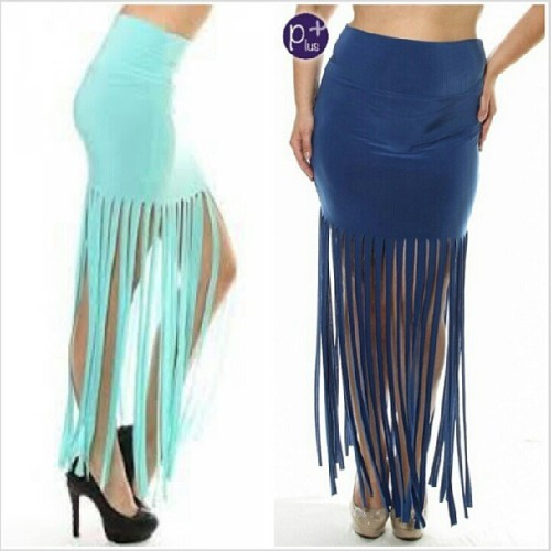 The Fringe Maxi Skirt in Mint is available.  Now $15 1x-3x on the website