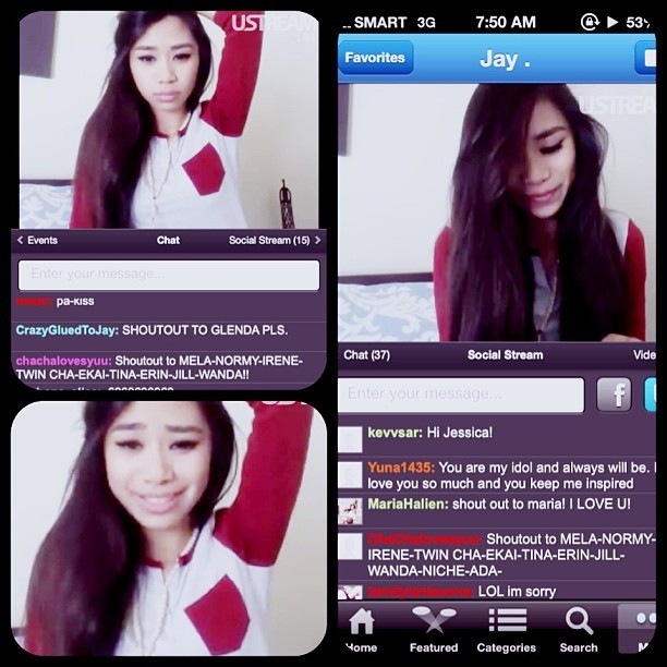 @ustream with @JessicaESanchez this morning! very special day like an advance birthday present already, but a follow on ig would complete everythang! #jessicasanchez #jessbian #shoutout #lovely #peoppe #love #blujays #teamjay #meyouandthemusic #tonight #manila @akazukincha15