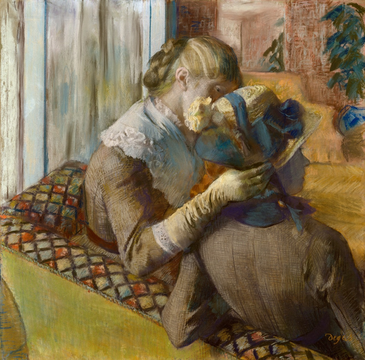 "arsvitaest:  ""At the Milliner's""  Author: Edgar Degas (French, 1834-1917)Date: 1881Medium: Pastel on paperLocation: The Metropolitan Museum of Art, New York"