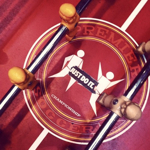 There is no wrong time for foosball! Just do it. @wiedenkennedy