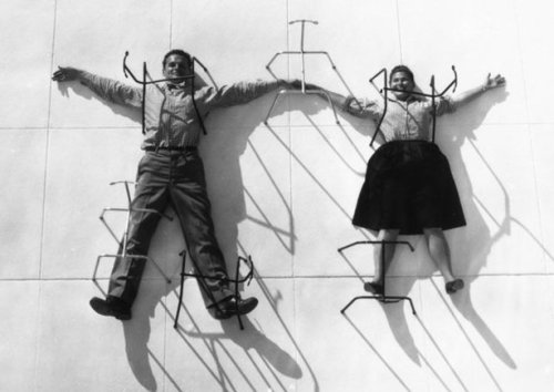 bostonbadger:  Charles and Ray Eames